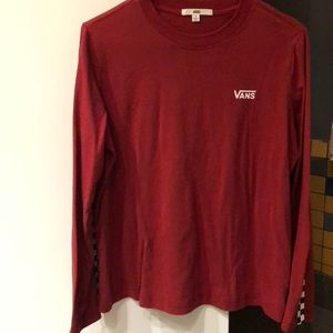 VANS RED + CHECKERED LONG SLEEVE